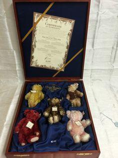 STEIFF TEDDY BABY BEAR SET 1994-1998 - 5 BEARS - 654695 Limited Ed 1098/1847