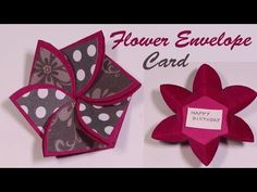 Flower envelop card TUTORIAL- how to- Scrapbooking cards- explosion box cards – … – Origami Diy Cards Tutorial, Origami Box Tutorial, Card Tutorials, Explosion Box Tutorial, Exploding Gift Box, Tarjetas Diy, Flower Box Gift, Origami Cards, Pop Up Box Cards