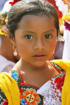 Young Maya girl in Izamal-Yucatan, Mexico