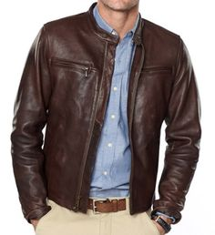 Men's Health: Steal His Style | Men's Health Leather Jacket: #Fossil
