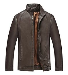 Simplechic Men's Summer Retro Casual Zip Up Long Sleeve Leather Jacket  http://www.yearofstyle.com/simplechic-mens-summer-retro-casual-zip-up-long-sleeve-leather-jacket/