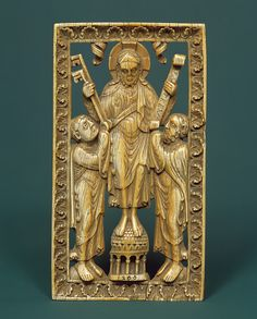 Christ Presenting the Keys to Peter and the Law to Paul, second half of 12th century  German (Westphalia)  Elephant ivory