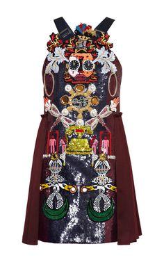 Clocktopia Embroidered Dress by Mary Katrantzou - Moda Operandi