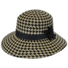 Houndstooth Wool Felt Breton Hat 6fe20019bc9