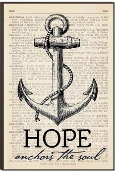 Hope Anchors Mounted Wall Art
