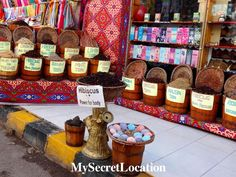 Bazaar in Sharm el-Sheikh.  For more photos visit www.mysecretlocation.net #bazaar #egypt #sharlelsheikh #spice #tea #oil #colors #beautiful #greatday #brightcolours #trip #holiday #travel #travelblog #mysecretlocation #instatravel #vacation