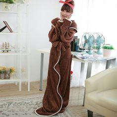 Autumn and winter plus size lengthen thickening coral fleece lovers robe  bathrobes ultra long paragraph men 4d038e237
