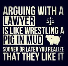 arguing with a paralegal is like rolling with pigs in mud - Google Search