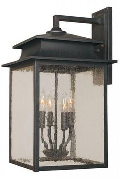 """Sutton 4-Light Outdoor Wall Sconce  21""""   $134."""