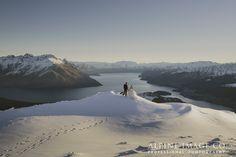 Stunning Queenstown Winter Weddings. Photography by Alpine Image Company #destinationweddings #newzealand