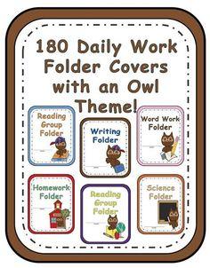 Owl Themed Classroom Folder Covers!#TPT $Paid