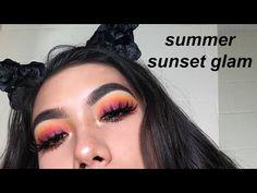 summer sunset makeup tutorial ft. morphe 35B palette ♡ marina hokulani - YouTube
