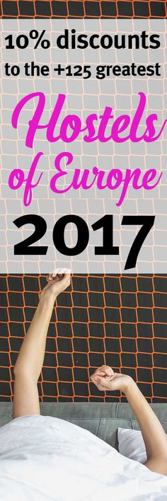 "Time to enjoy Europe spending less money!   The ultimate ebook guide of ""The Greatest Hostels of Europe 2017"" by #Hostelgeeks is now available at  http://hostelgeeks.com/product/best-hostels-europe-2017  The ebook features +125 stunning hostels. On top of that, you get a 10% to our hostel and all the other greatest hostels included. You can save more than 340$ on the best hostels in Europe!"
