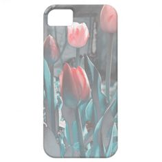 Pastel tulips iPhone 5 case