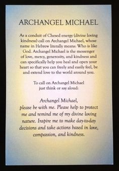 Prayer to Archangel Michael by Rebecca Rosen