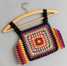 Captivating Crochet a Bodycon Dress Top Ideas. Dazzling Crochet a Bodycon Dress Top Ideas. Motif Bikini, Crochet Bikini Top, Crochet Blouse, Mode Crochet, Diy Crochet, Crochet Baby, Crochet Top, Crochet Squares, Crochet Stitches