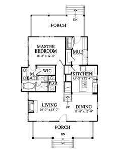 Chariton (variation) House Plan Design from Allison Ramsey Architects Lake House Plans, House Plans And More, Small House Plans, House Floor Plans, Cute Small Houses, Cordwood Homes, Small Cottage Homes, Small Floor Plans, Looking For Houses
