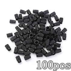 100pcs Plastic Tire Valve Stem Caps Anti-dust Cover. 100pcs Plastic Tire Valve Stem Caps Anti-dust Cover    description:  light Weight And Unique Design, Durable, Anti-rust  best Replacement For The Old Valve Caps  prevent Dirt And Water Get Into The Inside Of Valves And Potentially   jamming Or Contaminating The Selling Surfaces And Causing A Leak  fits To Bicycle,bike, Most Motorbike    specification:  material: Plastic  size:1.6cm X 1cm (height*diameter)  color: Black  quantity: 100pcs A…
