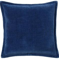 "Washed Velvet Pillow Cover 20"", Indigo At Pottery Barn - Decor & Pillows - Pillows - Solid Pillows"