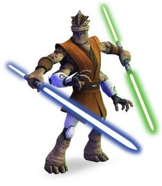 General Pong Krell - A Besalisk Jedi who serves as a temporary commander of the 501st during the Battle of Umbara during the Clone Wars. He hated clones and had secret aspirations to be Count Dooku's new apprentice.
