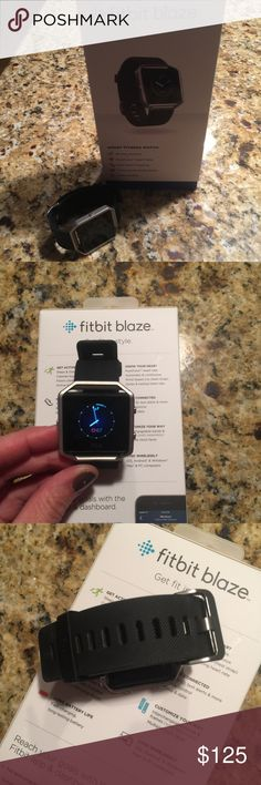 Fitbit Blaze - large Fitbit Blaze - only a few months old and in perfect condition.  Large black band, stainless steel frame.  Original box and charger included. Fitbit  Accessories Watches