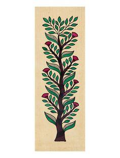 Tree of Life Madhubani Artwork with Flowers Kalamkari Painting, Tree Artwork, Artwork Ideas, Tree Wall Art, Indian Art Paintings, Tree Paintings, Abstract Paintings, Madhubani Art, Indian Folk Art
