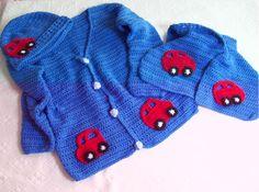 crochet jacket - hat - scarves