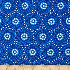 Sundborn Garden Small Circles Blue from @fabricdotcom  Designed by Hemma Design for Red Rooster Fabrics, this cotton print is perfect for quilting, apparel and home decor accents.  Colors include white and shades of blue.