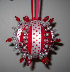 Styrofoam ball Christmas ornament
