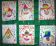 punches – Creative (Un)block Art Lessons For Kids, Art For Kids, Crafts For Kids, Arts And Crafts, Diy Crafts, Clown Cirque, Clown Crafts, Preschool Art Activities, Circus Theme