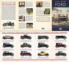 The New Ford - Value Far Above The Price; 1931 Model A Ford Full-Line Brochure by Boats-n-Cars, via Flickr