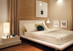 quarto, madeira clara e branco