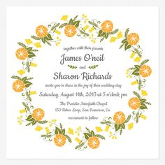 Vintage Blossom Wedding invitations