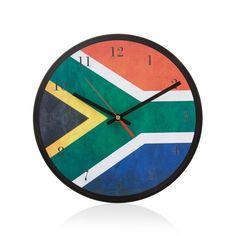 Buy SA Flag Wall Clock Multi-color Decor Living Room for R279.00