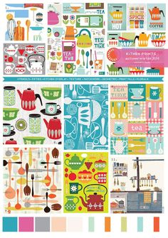 Emily Kiddy: Print Trend - 50's Inspired Kitchen Prints