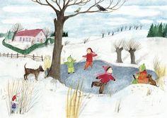 Poster oder Postkarte mit Illustration von Eva-Maria Ott-Heidmann