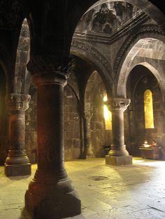 Gavit of Geghard Monastery in Armenia (UNESCO World Heritage Site).