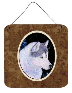 Siberian Husky Aluminium Metal Wall or Door Hanging Prints