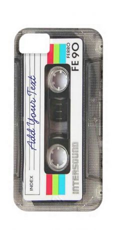 Personalized mix tape iPhone case: What would you write on the front?