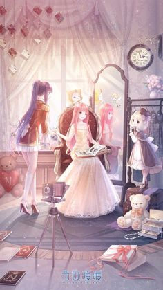 fanyaneko — I think the Miracle Nikki Chinese server will. Manga Girl, Chica Anime Manga, Art Anime, Anime Artwork, Anime Art Girl, Anime Girls, Anime Girl Dress, Yandere Manga, Anime Mexico