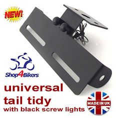 Motorcycle Universal tail tidy number plate holder rsend led screw light TT1