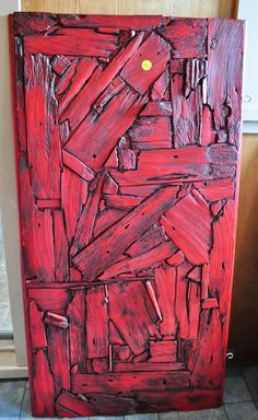 Wonderful Repurposed Barn Wood Wall Hanging being sold at auction
