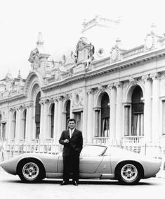 Ferruccio Lamborghini and the car which remained the pride and joy of his entire life. (the Miura)
