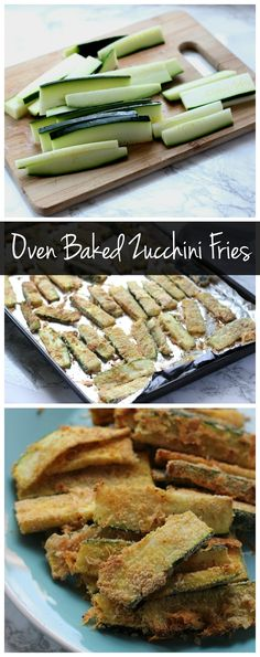 These oven baked zucchini fries are a healthy alternative to fried zucchini! Crispy and crunchy without all the oil!