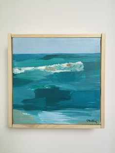 Original Acrylic Abstract Beach-Ocean Scene Painting on Canvas by Sara Beckley at d. elizabeth studio #etsyfinds