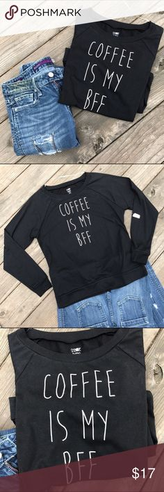 NWT!Coffee☕️BFF Comfy Shirt! Super cute! Coffee☕️BFF Comfy Shirt! •Brand new •super comfy cute logo shirt • Matches great with jeans or any favorite pants •NWT• Great gift for the coffee lovers! Snooze Button Tops Tees - Long Sleeve