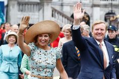 King Willem-Alexander and Queen Maxima of The Netherlands greet supporters during the celebration to the 200 Years of the Kingdom of The Netherlands on August 30, 2014 in Maastricht, Netherlands