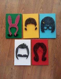 Bob's Burgers Family String Art set of 5 Made to Order