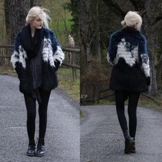 Faye S. - Missguided Coat, Dr. Martens Boots, Black Milk Clothing Leggings - Why don't we just all stand up and fight?