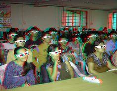 3D ANAGLYPH photos Paramarsh 09 event MSU Baroda, INDIA